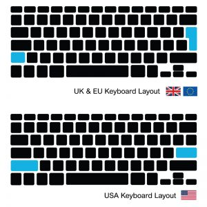 Keyboard / toetsenbord Macbook Pro 13-inch A1278 UK EU 2009 - 2012