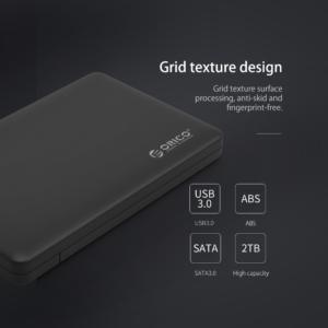 Orico - Harde Schijf Behuizing 2,5 inch SATA HDD/SSD - USB 3.0 - Zwart