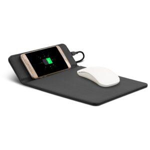 Muismat met draadloze Qi oplaadstation voor Smartphones