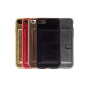 iPhone 7 / 8 Luxe Leren Back Hoesje Met Pasjesvakje
