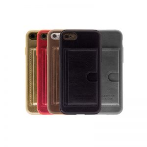 iPhone 6 / 6s Luxe Leren Back Hoesje Met Pasjesvakje