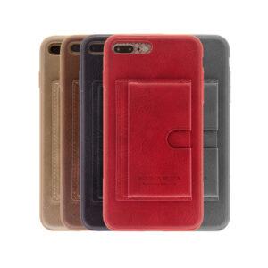 iPhone 6 Plus / 6s Plus Luxe Leren Back Hoesje Met Pasjesvakje