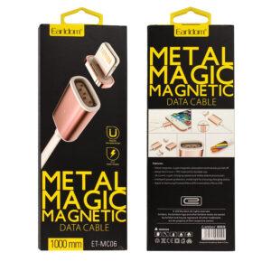 Magnetische laadkabel lightning - Zilver / Goud - 1 meter - Earldom ET-MC06