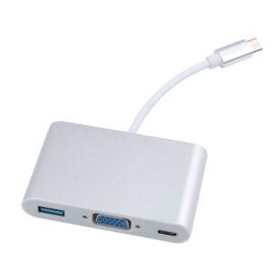 USB-C naar USB 3.1, Type-C en VGA converter adapter