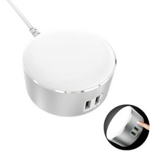 LED Nachtlamp met 2x USB oplaadpoorten