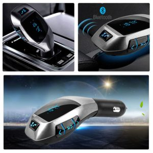X5 LCD Wireless FM Transmitter MP3 Player TF Car Kit Charger met Bluetooth Functie