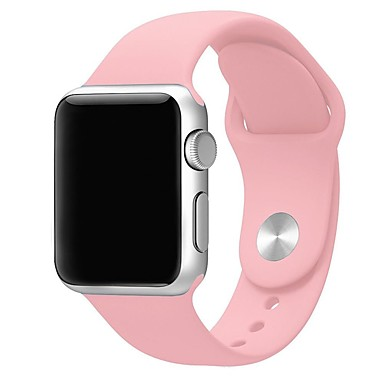 siliconen apple watch band donkerblauw Roze