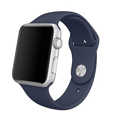 siliconen apple watch band donkerblauw