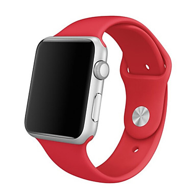 siliconen apple watch band rood