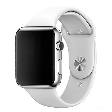 siliconen apple watch band wit