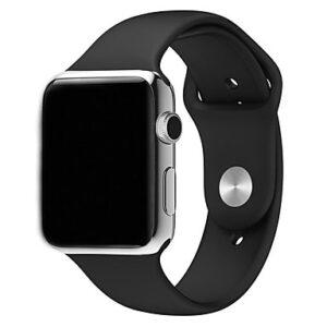 Apple Watch Silicone Sportband Zwart - Apple Watch Series 0/1/2/3/4
