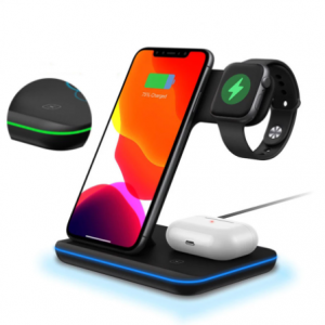 3 in 1 Draadloos Docking Station Apple Watch, Airpods en iPhone
