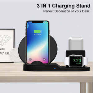 3 in 1 Draadloos Docking Station Apple Watch, Airpods & iPhone