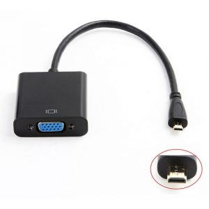 Micro HDMI naar VGA Adapter Kabel 1080p Full HD