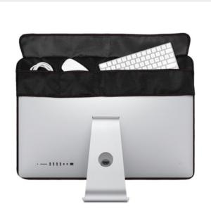 Stofkap voor iMac 21 inch/27 inch - met opbergvak voor muis en keyboard - zwart