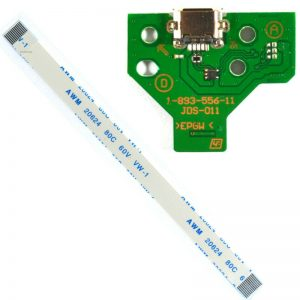 PS4 Controller Micro USB Charging Socket Circuit Board JDS-011 12-Pin Cable Port (MID-PJ-SY002-01)