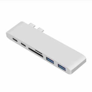 HyperDrive Alternatief USB-C 6 in 1 hub Silver - Macbook Pro