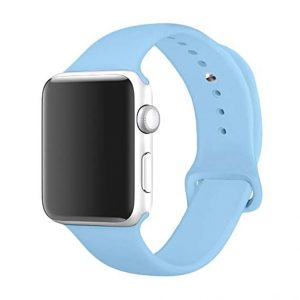 Apple Watch Silicone Sportband Licht Blauw - Apple Watch Series 0/1/2/3/4