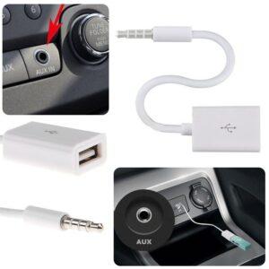 Aux naar Usb adapter Auto 3.5mm Man AUX Audio Plug naar USB 2.0 Vrouwelijke Converter Adapter