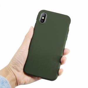 iPhone X, Xs Silicone Hoesje - Groen, Zwart, Roze