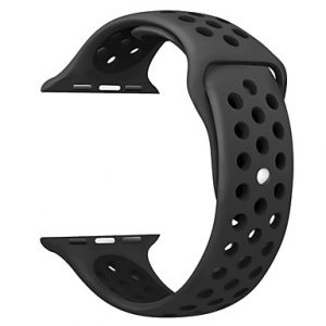 Apple Watch Silicone Sportband Hollow Edition Zwart - Apple Watch Series 0/1/2/3/4
