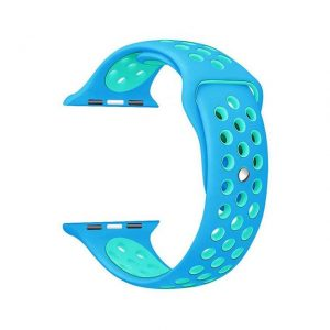 Apple Watch Silicone Sportband Hollow Edition Blauw - Apple Watch Series 0/1/2/3/4