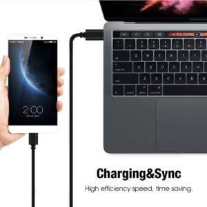 USB Type C naar Micro USB kabel 1 meter -Zwart