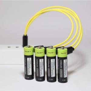 ZNTER AA Oplaadbare Batterij 1.5 V 2A 1250 mAh USB Opladen Lithium Batterij met Micro Usb-kabel 2 Stks/set
