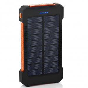 Solar Charger 20000 mAh Power Bank Waterdicht - Shock Proof - Dual USB