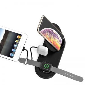 5 in 1 Draadloos Docking Station Apple Watch, Airpods, iPhone en iPad