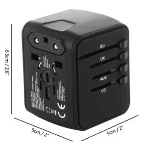Internationale reis stekker met USB aansluiting