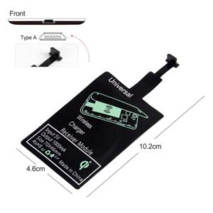 Draadloos Oplaad Receiver Pad Micro USB, Wireless Charging Receiver