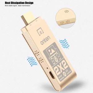 Onten draadloze HDMI dongle voor iOS/Android