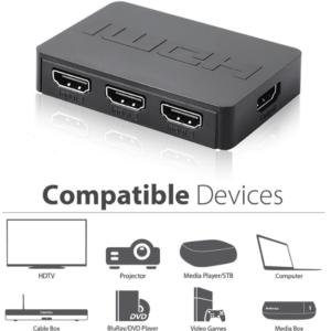 3 poorts HDMI switch met afstandsbediening