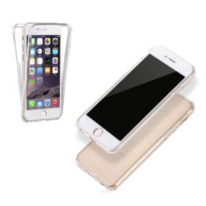 360° Full Cover Transparant TPU case voor iPhone 6/ 6s Plus