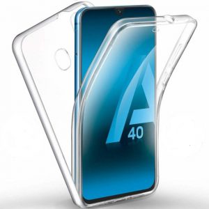 360° Full Cover Transparant TPU case voor Samsung A40