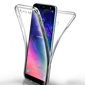 360° Full Cover Transparant TPU case voor Samsung A6 Plus 2018