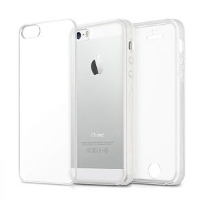 360° Full Cover Transparant TPU case voor iPhone 5 / 5s / SE