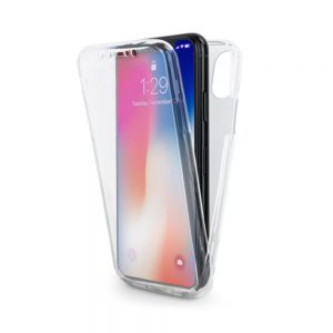 360° Full Cover Transparant TPU case voor iPhone X / XS