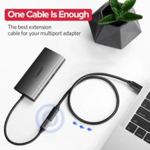 Ugreen USB-C man naar USB-C vrouw verlengkabel 0,5 meter
