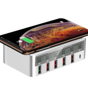 Draadloze Multi USB Port Charger met display