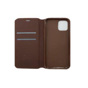 iPhone 11 Luxe Book Case Zwart/Bruin/Goud