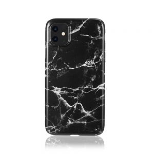 iPhone 11 Marble Case Zwart/Wit