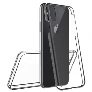 360° Full Cover Transparant TPU case voor iPhone XR