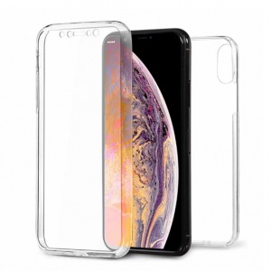 360° Full Cover Transparant TPU case voor iPhone XS Max
