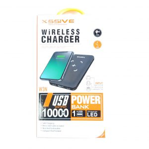 XSSIVE Draadloze Powerbank - Wireless Power Bank W3N 10000mAh QI Lader