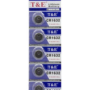 CR1632 3V Lithium Knoopcel Batterij - 5 Stuks