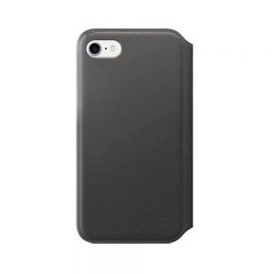 iPhone 7/8/SE 2020 Leren Folio Case - Black/Saddle Brown
