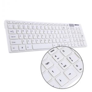 2.4G Wireless Keyboard + Muis - Wit