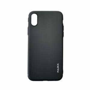Puloka iPhone X/XS Mat Silicone Soft case (Zwart)